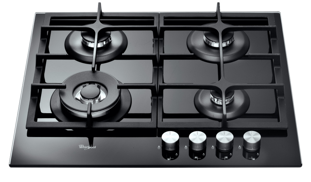 Whirlpool Plită GOA 6425/NB Negru Gaz'Mix Frontal top down