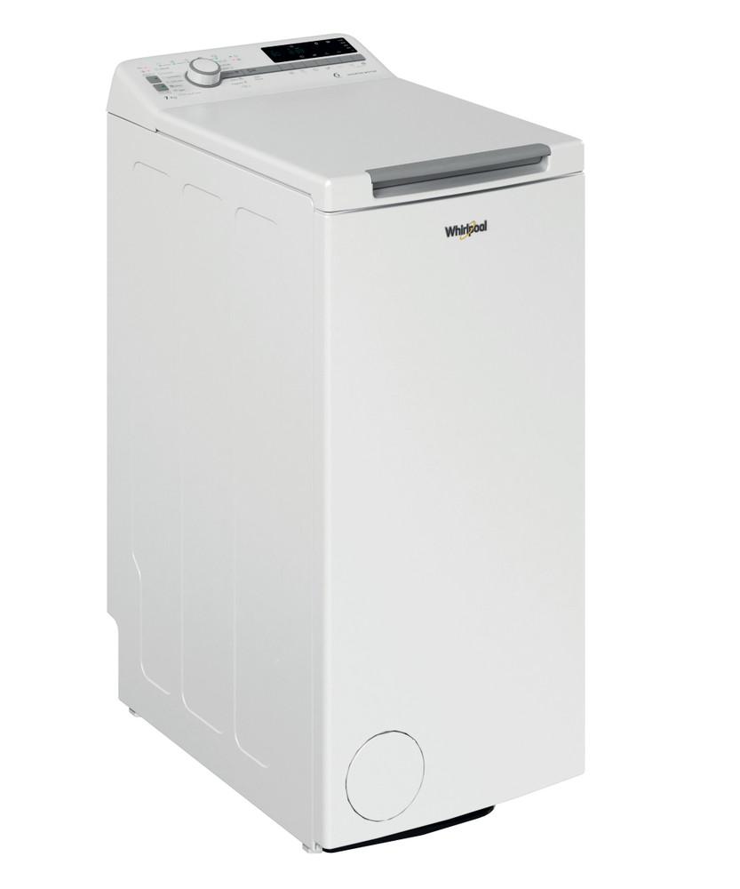 Whirlpool Maşină de spălat rufe De sine statator TDLR 7221BS EU/N Alb Încărcare Verticală E Perspective
