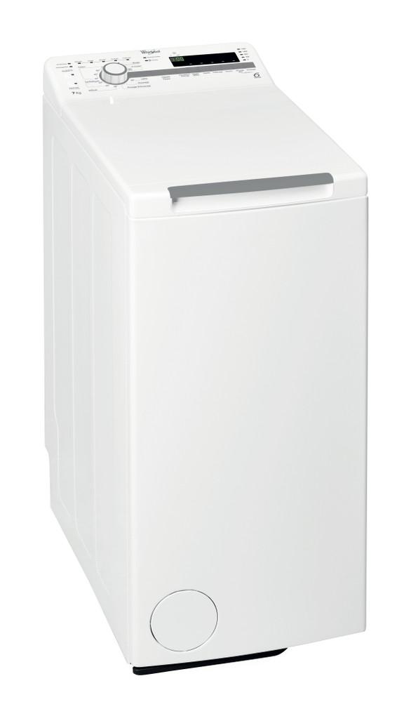Whirlpool Lave-linge Pose-libre TDLR 70210 Blanc Top loader A+++ Perspective