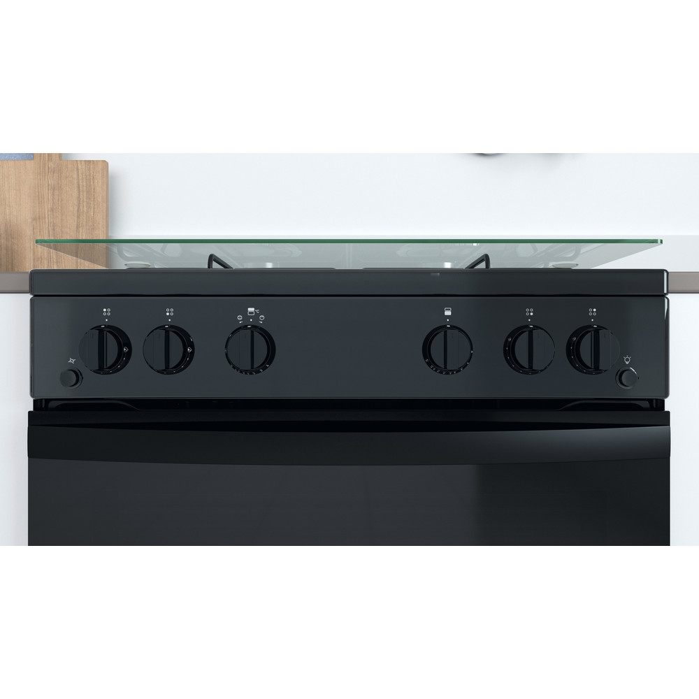 Indesit Double Cooker ID67G0MMB/UK Black A+ Lifestyle control panel