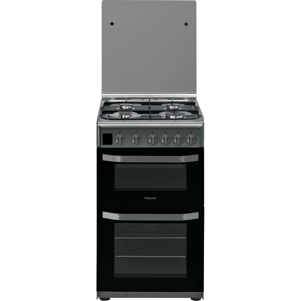 Hotpoint Double Cooker HD5G00CCX/UK Inox A+ Stainless steel Frontal