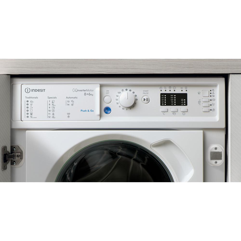 Indesit Lavante-séchante Encastrable BI WDIL 861484 EU Blanc Lave-linge frontal Lifestyle control panel