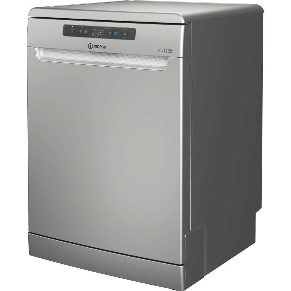 Indesit Dishwasher Free-standing DFC 2B+16 S UK Free-standing F Perspective