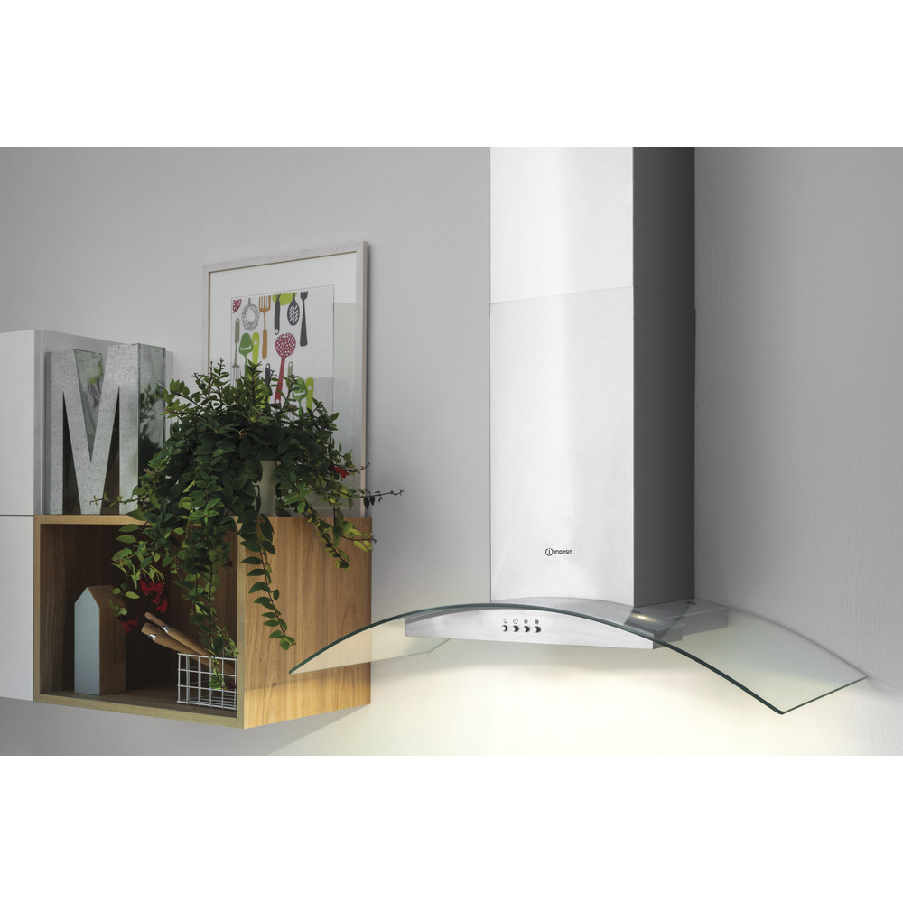 Indesit HOOD Built-in IHGC 6.5 LM X Inox Wall-mounted Mechanical Lifestyle perspective