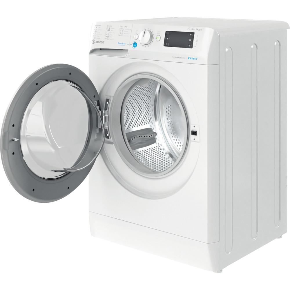 Indesit Mašina za pranje i sušenje veša Samostojeći BDE 761483X WS EE N Bijela Front loader Perspective open