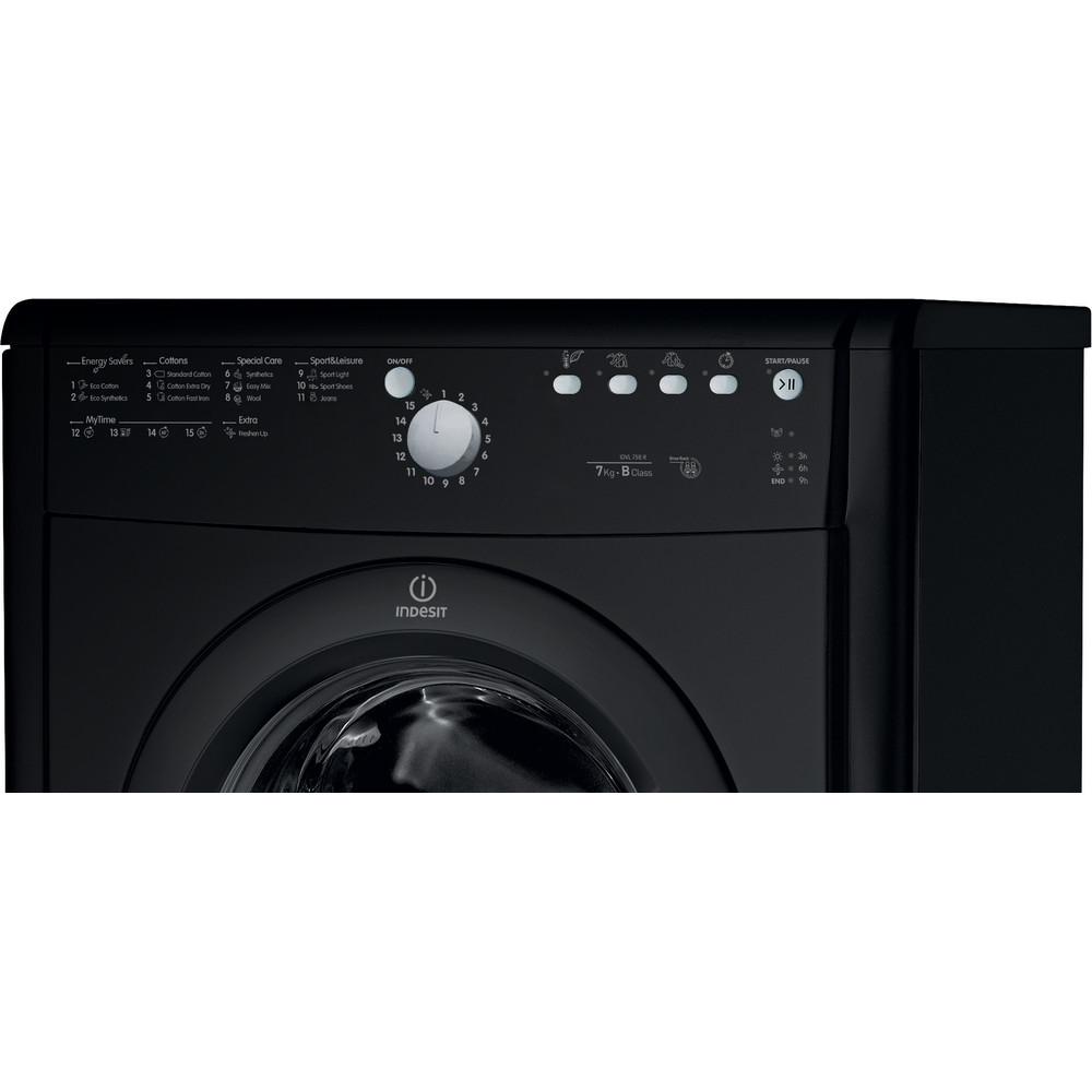 Indesit Dryer IDVL 75 BRK.9 UK Black Control_Panel