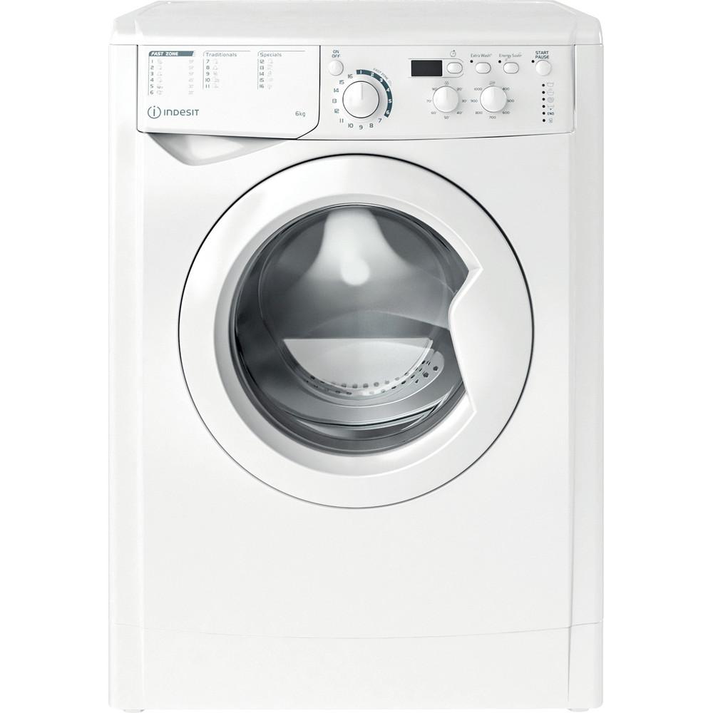 Indesit Waschmaschine Freistehend EWD 61051E W EU N Weiß Frontlader F Frontal