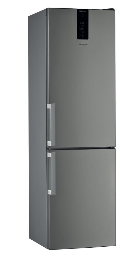 Whirlpool Jääkaappipakastin Vapaasti sijoitettava W9 921D OX H 2 Optinen Inox-harmaa 2 doors Perspective