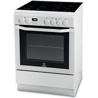 Indesit Cuisinière I6VMC6A(W)/GR Blanc Electrique Perspective