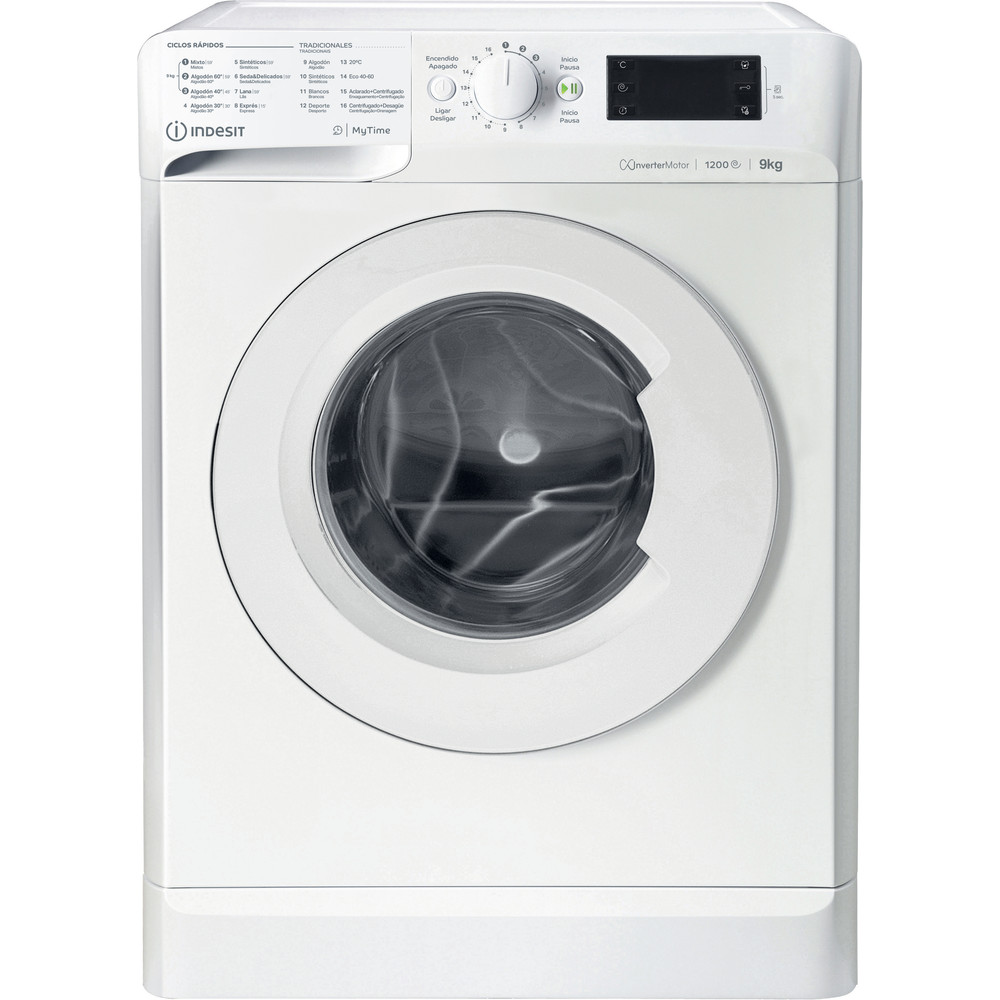 Indesit Máquina de lavar roupa Livre Instalação MTWE 91283 W SPT Branco Carga Frontal D Frontal