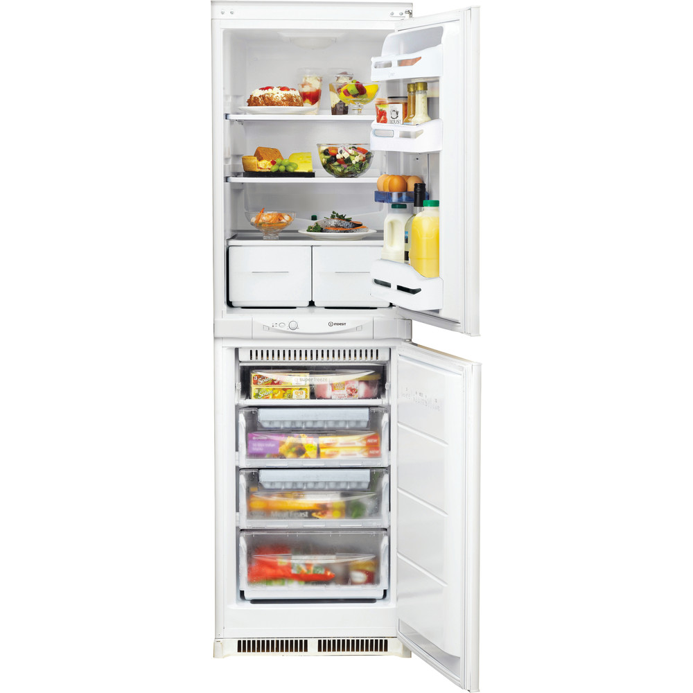 Indesit Fridge Freezer Built-in INC 325 FF 0 White 2 doors Frontal open