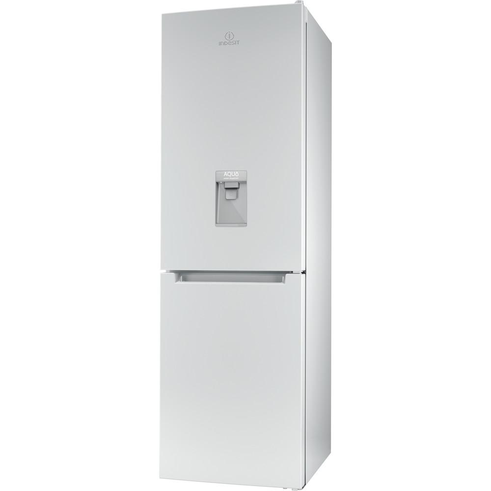 Indesit Комбиниран хладилник с камера Свободностоящи LR8 S1 W AQ Бял 2 врати Perspective