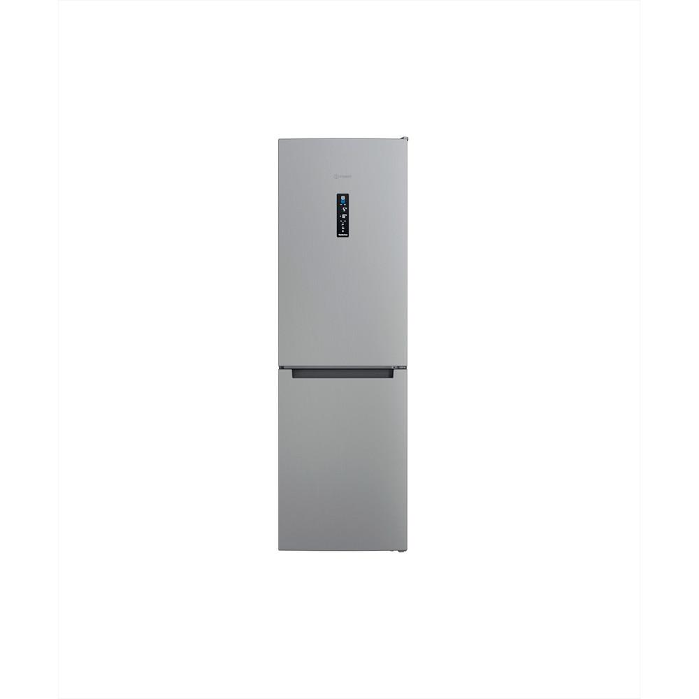 Indesit Combiné réfrigérateur congélateur Pose-libre INFC8 TT33X Inox 2 portes Frontal