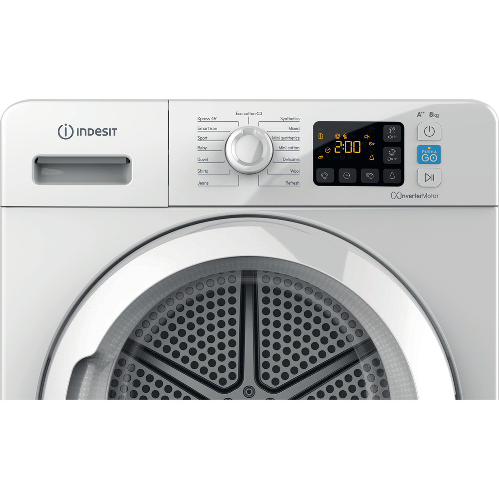 Indesit Dryer YT M11 82 X UK White Control panel