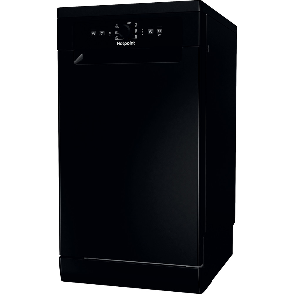 Hotpoint Dishwasher Free-standing HSFE 1B19 B UK N Free-standing F Perspective
