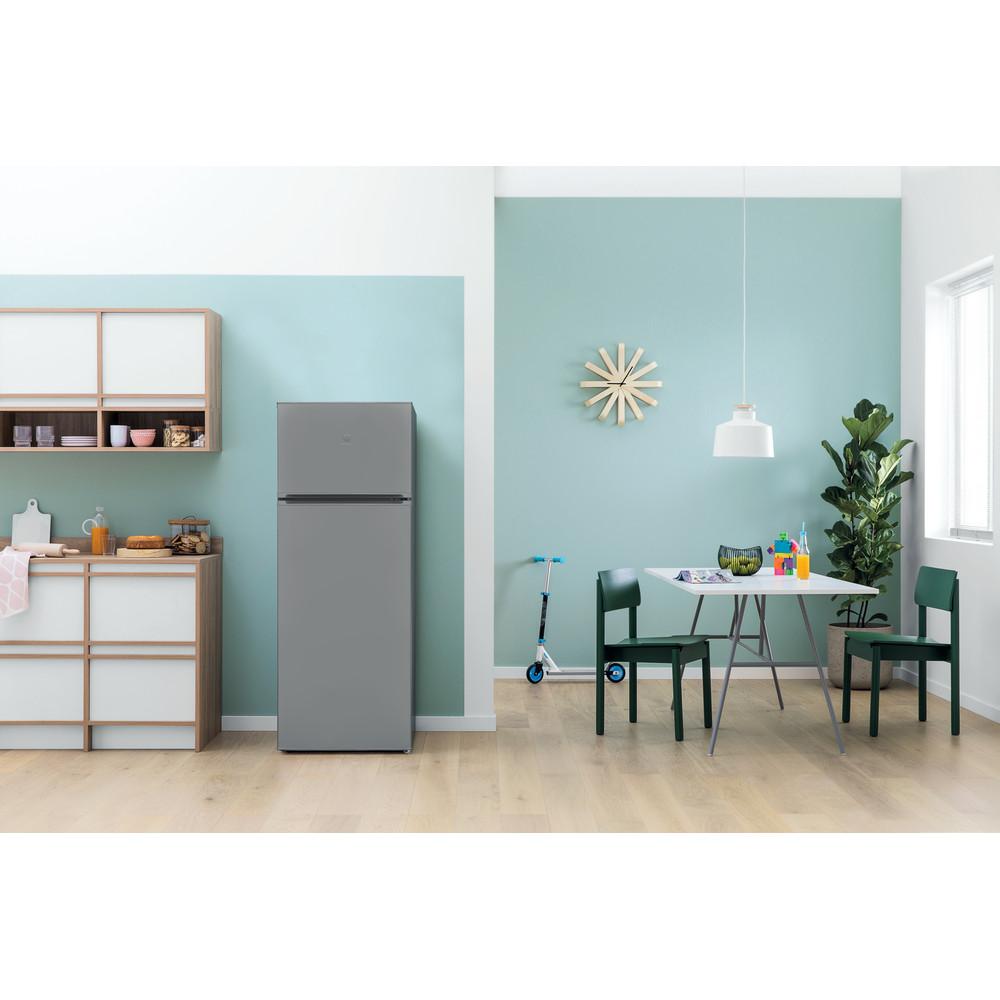 Indesit Combiné réfrigérateur congélateur Pose-libre I55TM 4110 S 1 Argent 2 portes Lifestyle frontal
