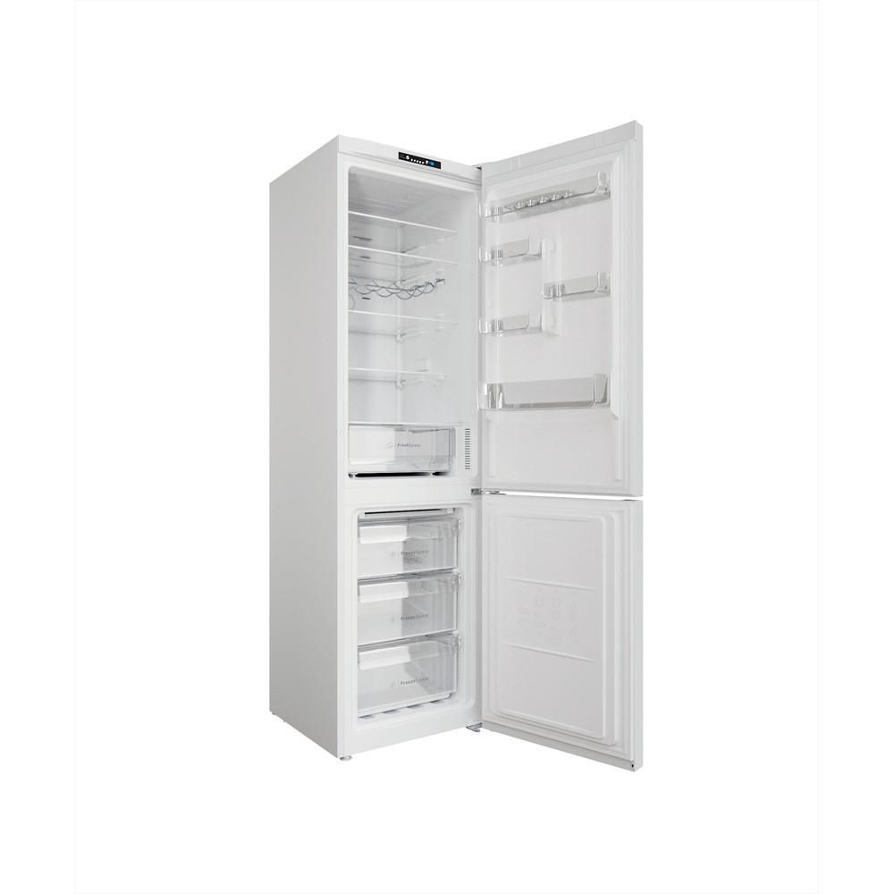 Indesit Kombinovaná chladnička s mrazničkou Voľne stojace INFC9 TI22W Biela 2 doors Perspective open