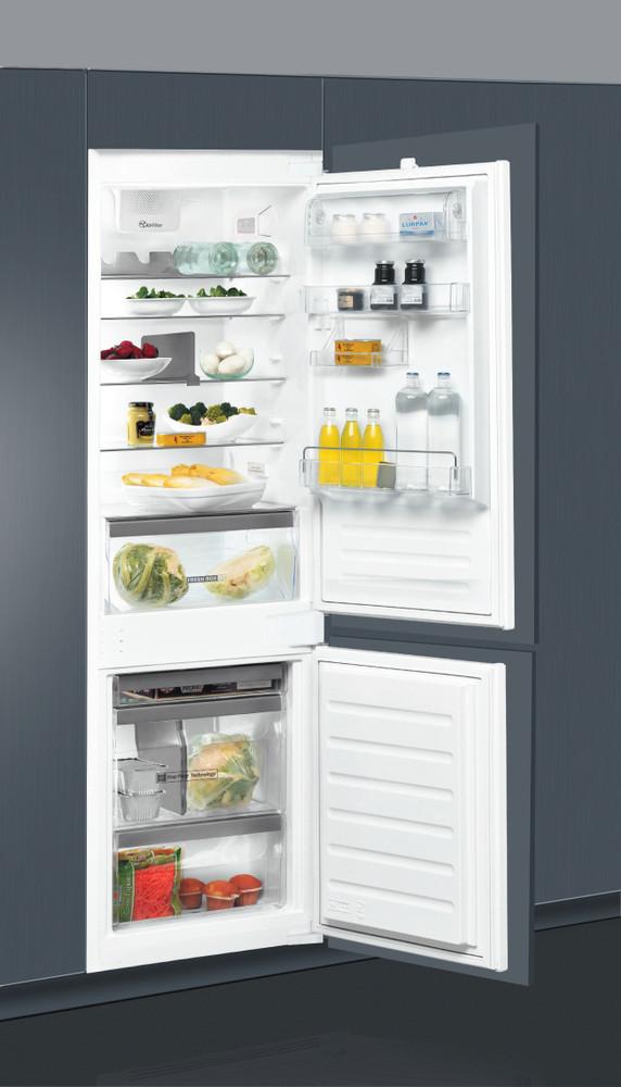 Whirlpool Fridge/freezer combination Vgradni ART 6711 SF2 Bela 2 doors Lifestyle perspective open