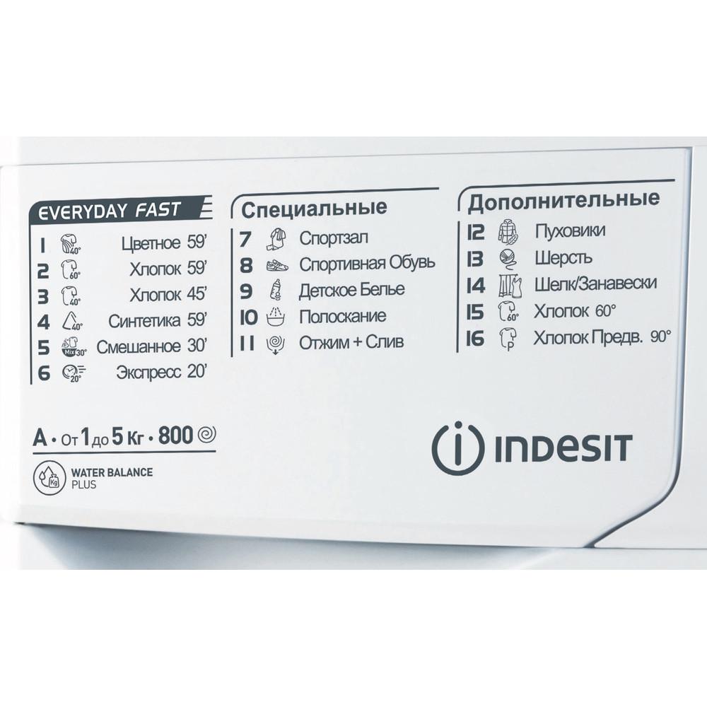 Indesit Стиральная машина Отдельностоящий EWSB 5085 CIS Белый Фронтальная загрузка A Program