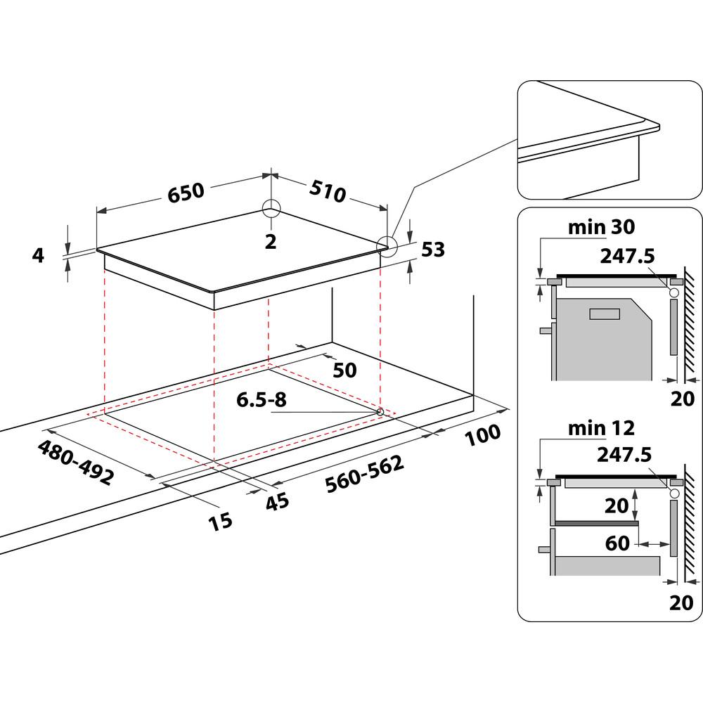 Whirlpool SmartCook SMP 658C/BT/IXL Induction Hob 4 Zones 60cm - Black