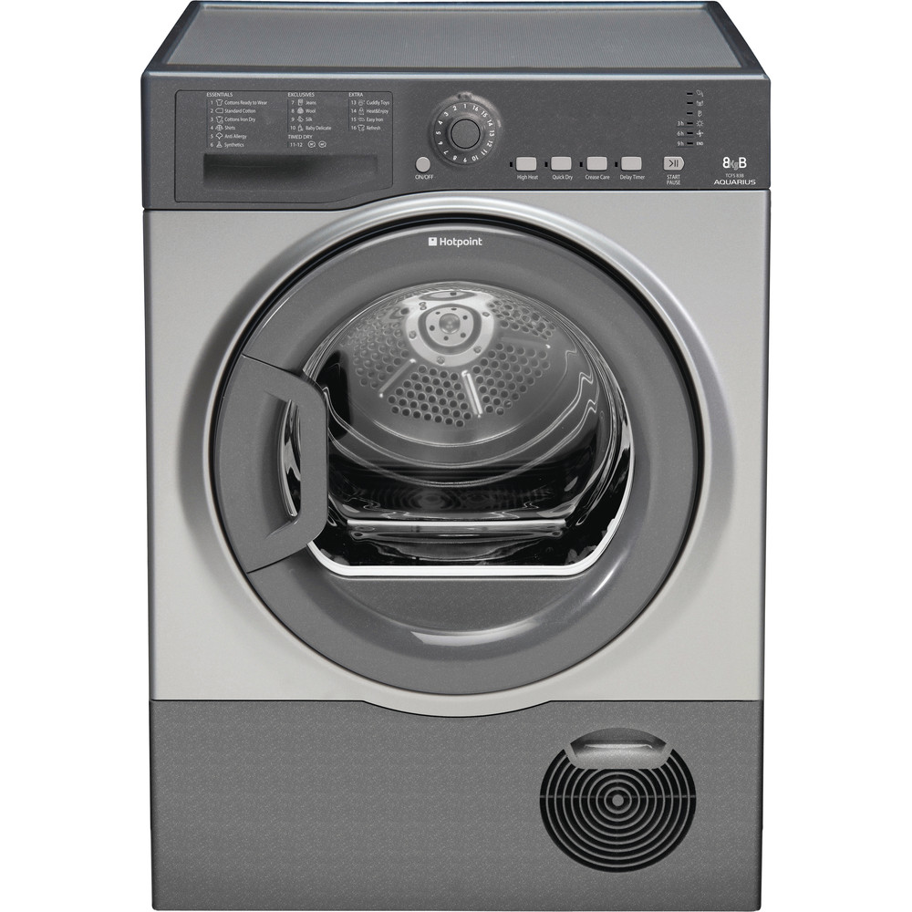 Hotpoint Dryer TCFS 83B GG.9 (UK) Graphite Frontal