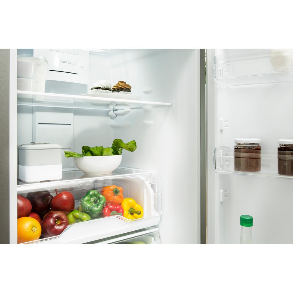 Indesit Комбиниран хладилник с камера Свободностоящи LI7 FF2 W Бял 2 врати Drawer