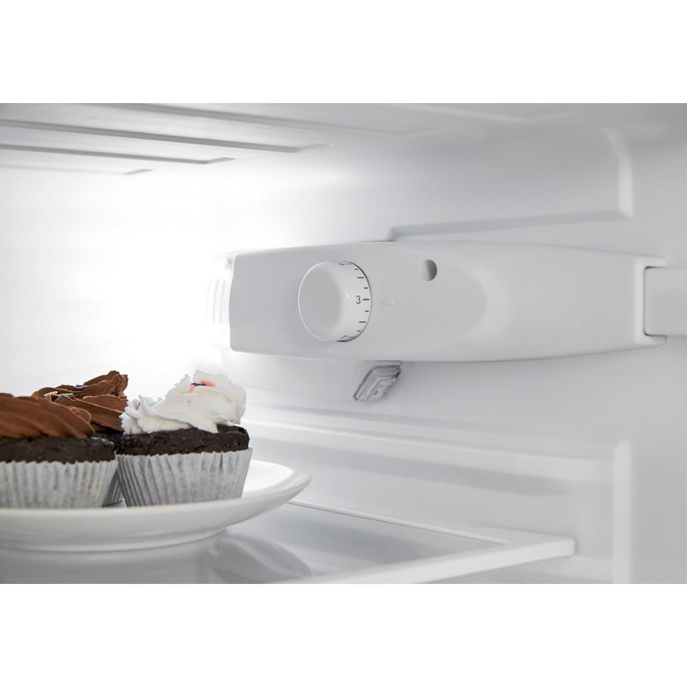 Indesit Combiné réfrigérateur congélateur Pose-libre CAA 55 NX 1 Inox 2 portes Lifestyle control panel