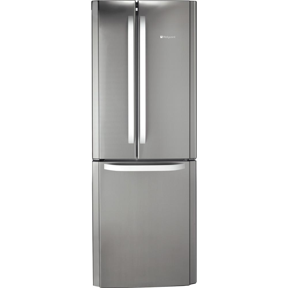Hotpoint Fridge Freezer Free-standing FFU3D X 1 Inox 2 doors Frontal