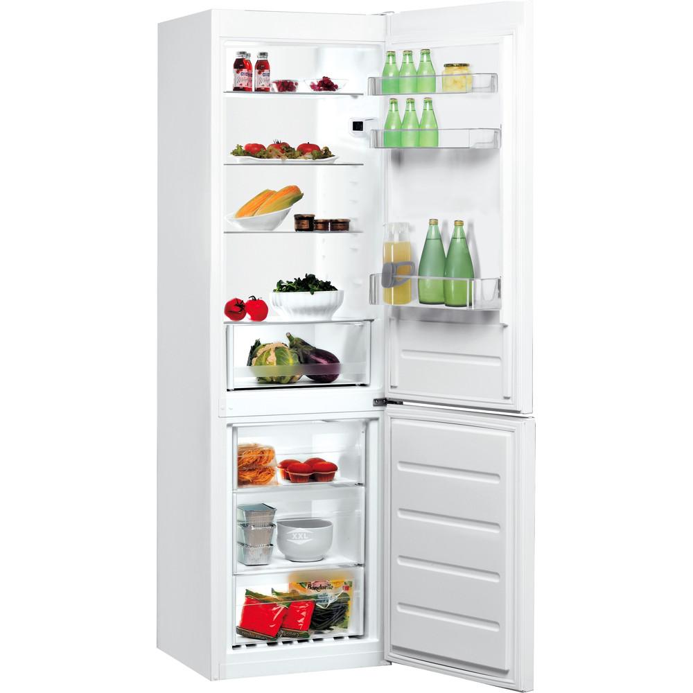 Indesit Fridge-Freezer Combination Free-standing LI8 S1E W UK Global white 2 doors Perspective open