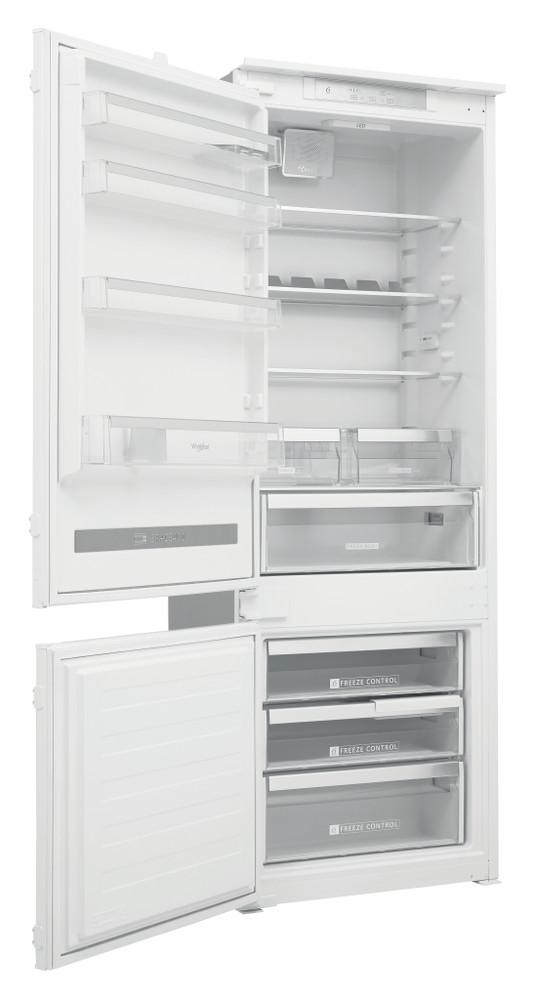 Whirlpool Комбиниран хладилник с камера Вграден SP40 801 EU 1 Бял 2 врати Perspective open