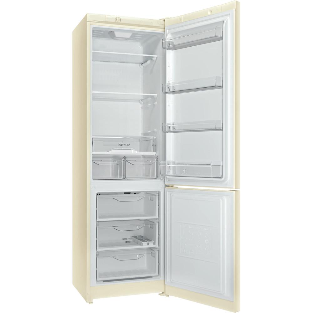 Indesit Холодильник с морозильной камерой Отдельностоящий DS 4200 E Розово-белый 2 doors Perspective open