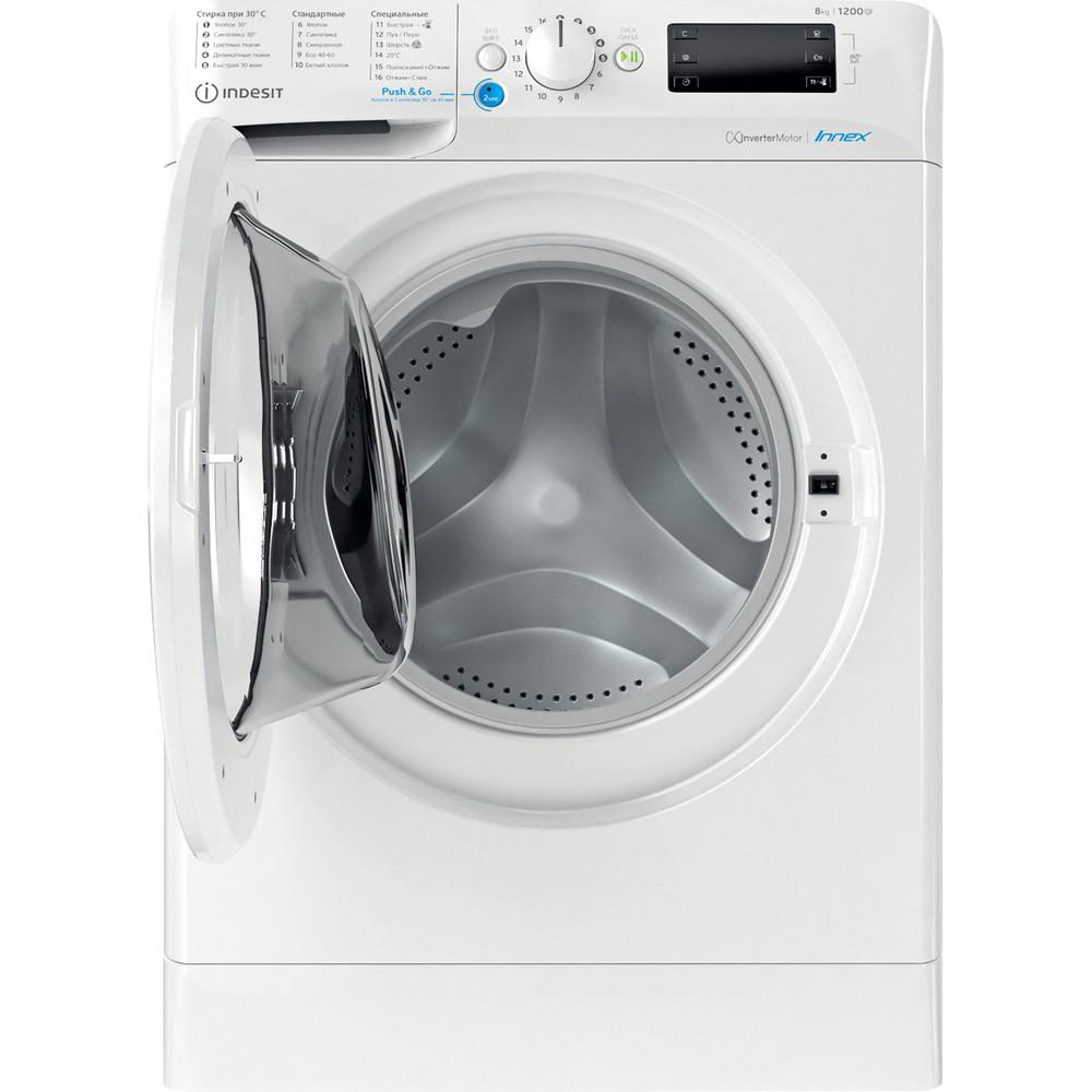 Indesit Стиральная машина Отдельностоящий BWSE 81282 L Белый Фронтальная загрузка A Frontal open