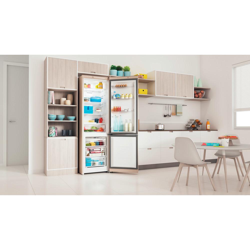 Indesit Холодильник с морозильной камерой Отдельностоящий ITS 4200 E Розово-белый 2 doors Lifestyle perspective open