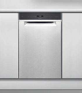 Whirlpool-opvaskemaskine: inox-farve, slank model - WSUP 4O33 PF X