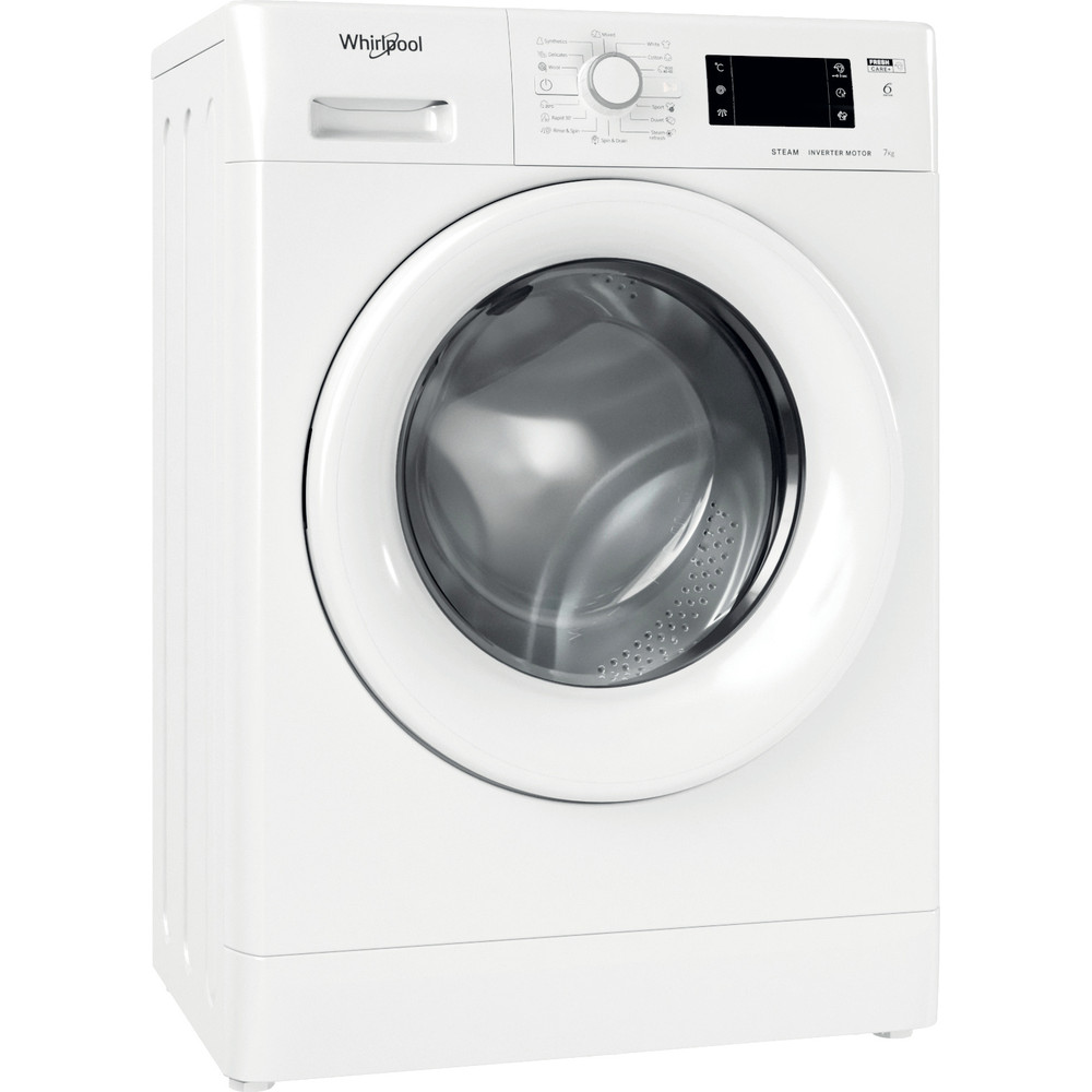 Whirlpool frontmatad tvättmaskin: 7 kg - FWSG 71283 WV EE N