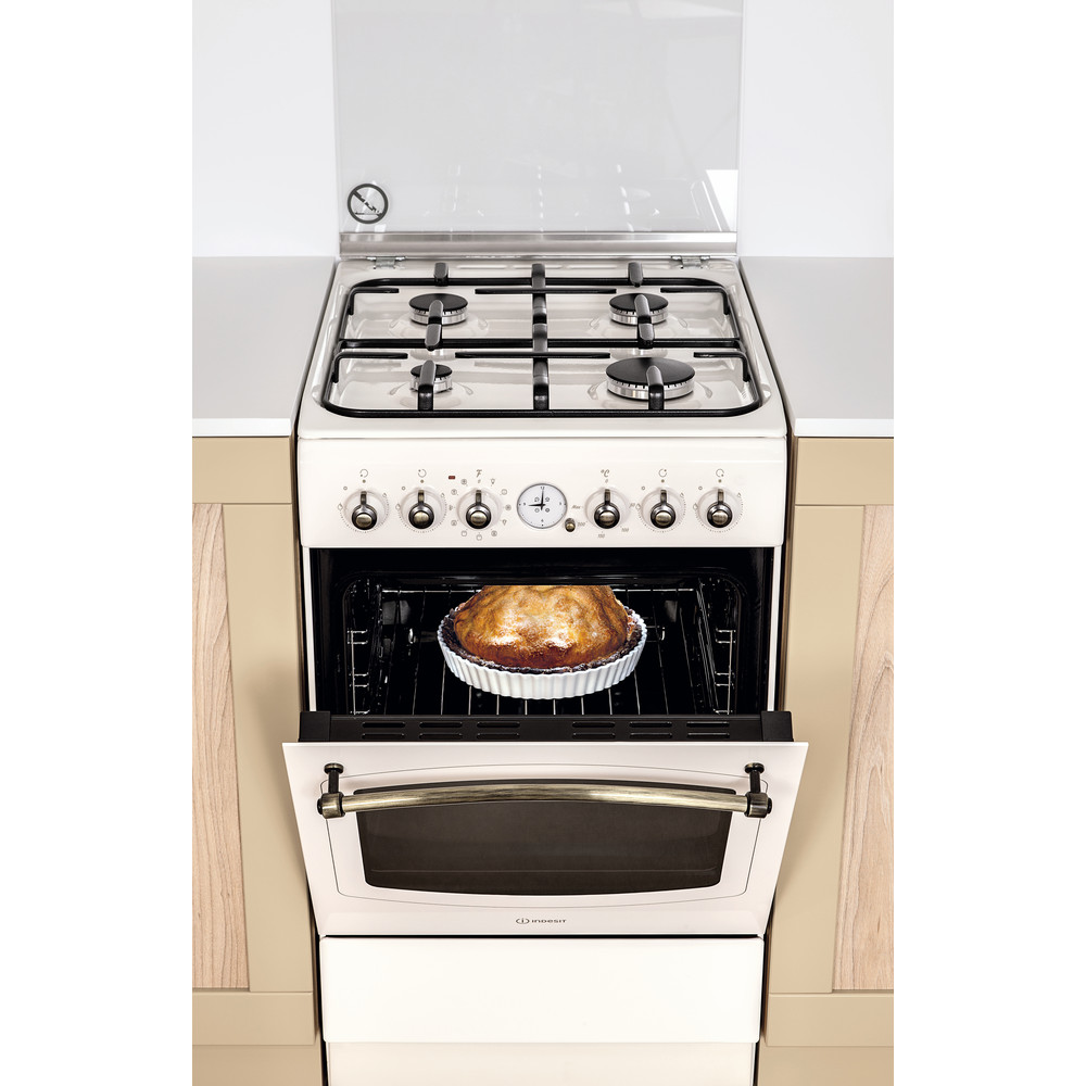 Indesit Cucina con forno a doppia cavità IS5G1MMJ/E Jasmine GAS Lifestyle frontal open