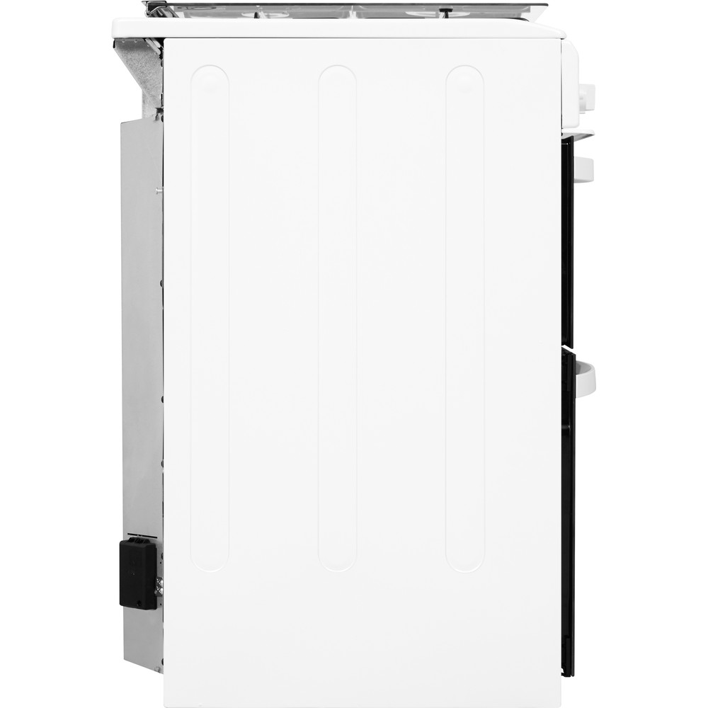 Indesit Double Cooker ID5G00KMW/UK /L White A+ Enamelled Sheetmetal Back / Lateral