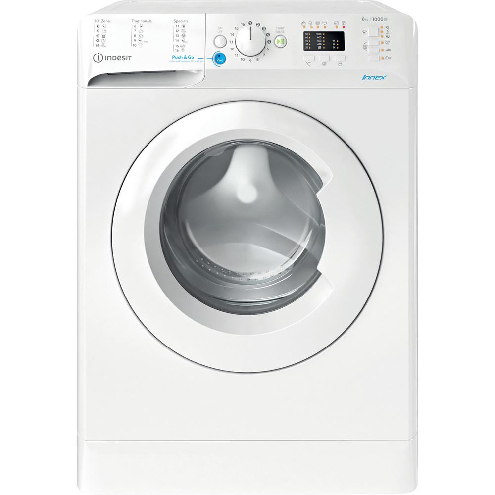 Indesit Veļas mazgājamā mašīna Brīvi stāvošs BWSA 61051 W EU N Balts Priekšējās ielādes F Frontal