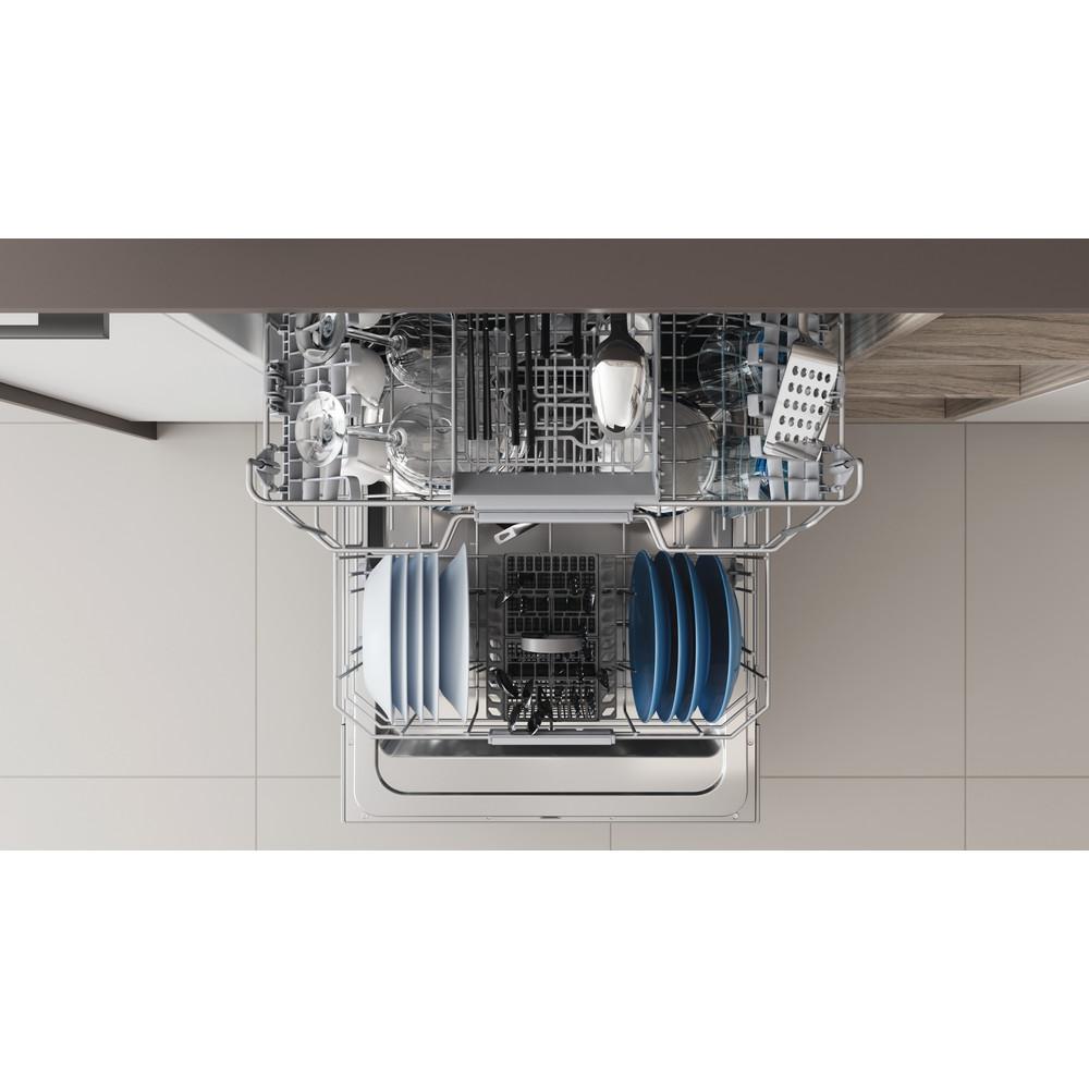 Indesit Lave-vaisselle Encastrable DBC 3C24 AC X Semi-intégré E Rack