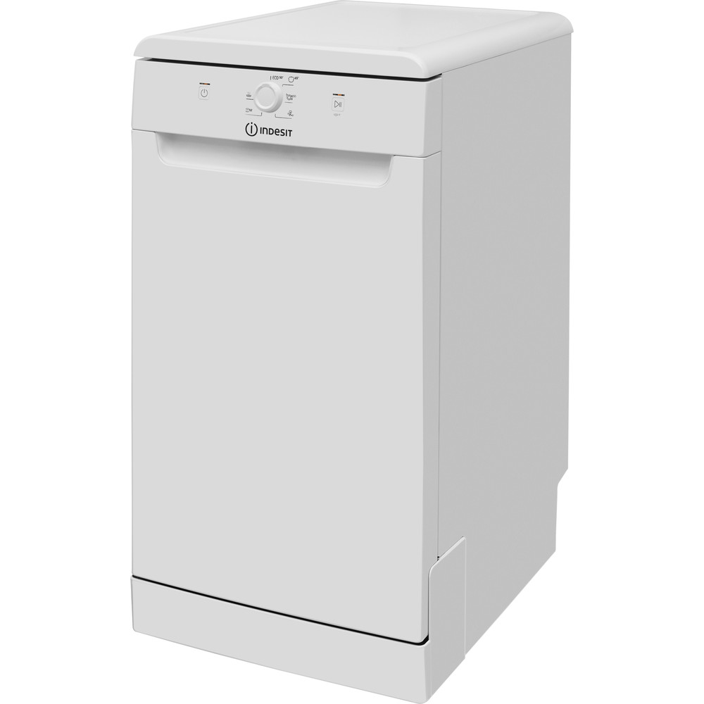 Indesit Dishwasher Free-standing DSFE 1B10 UK Free-standing F Perspective