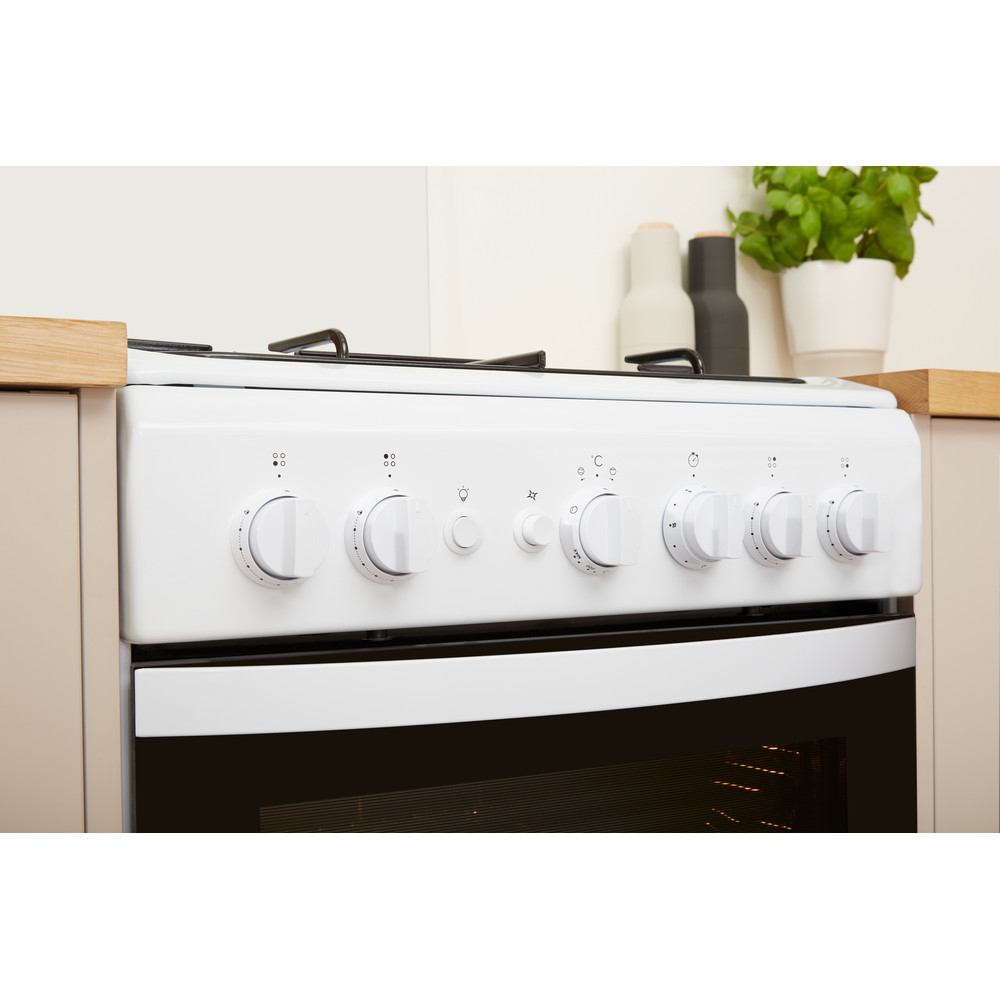 Indesit Cocina IS5G1PMW/E Blanco Gas Lifestyle control panel