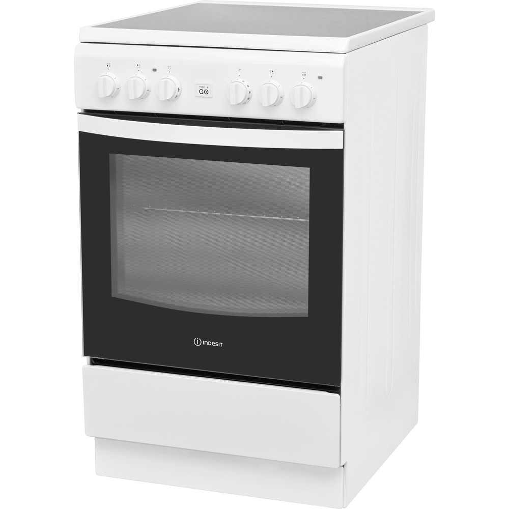 Indesit Plīts IS5V8GMW/E Balts Electrical Perspective