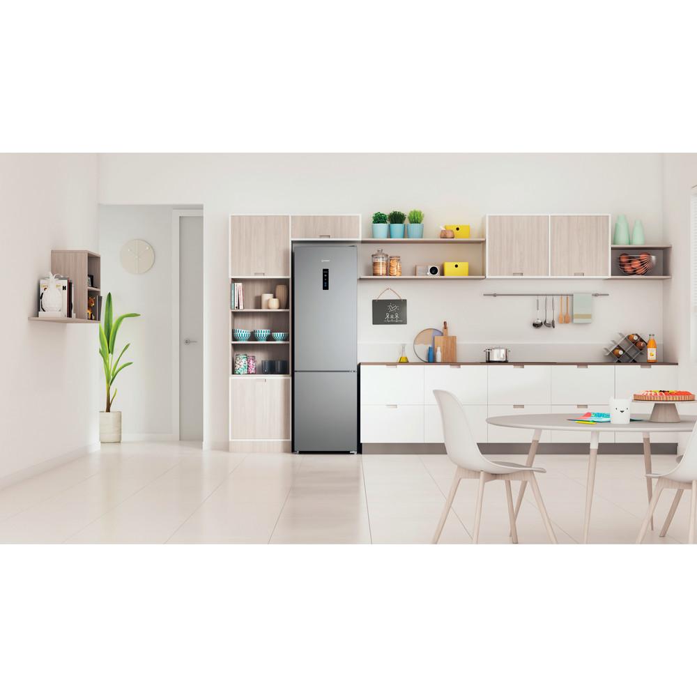 Indesit Холодильник с морозильной камерой Отдельностоящий ITD 5200 S Серебристый 2 doors Lifestyle frontal