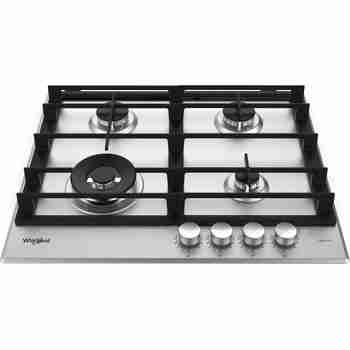 Whirlpool Table de cuisson GMWL 628/IXL FR Inox Ixelium Gaz Frontal top down