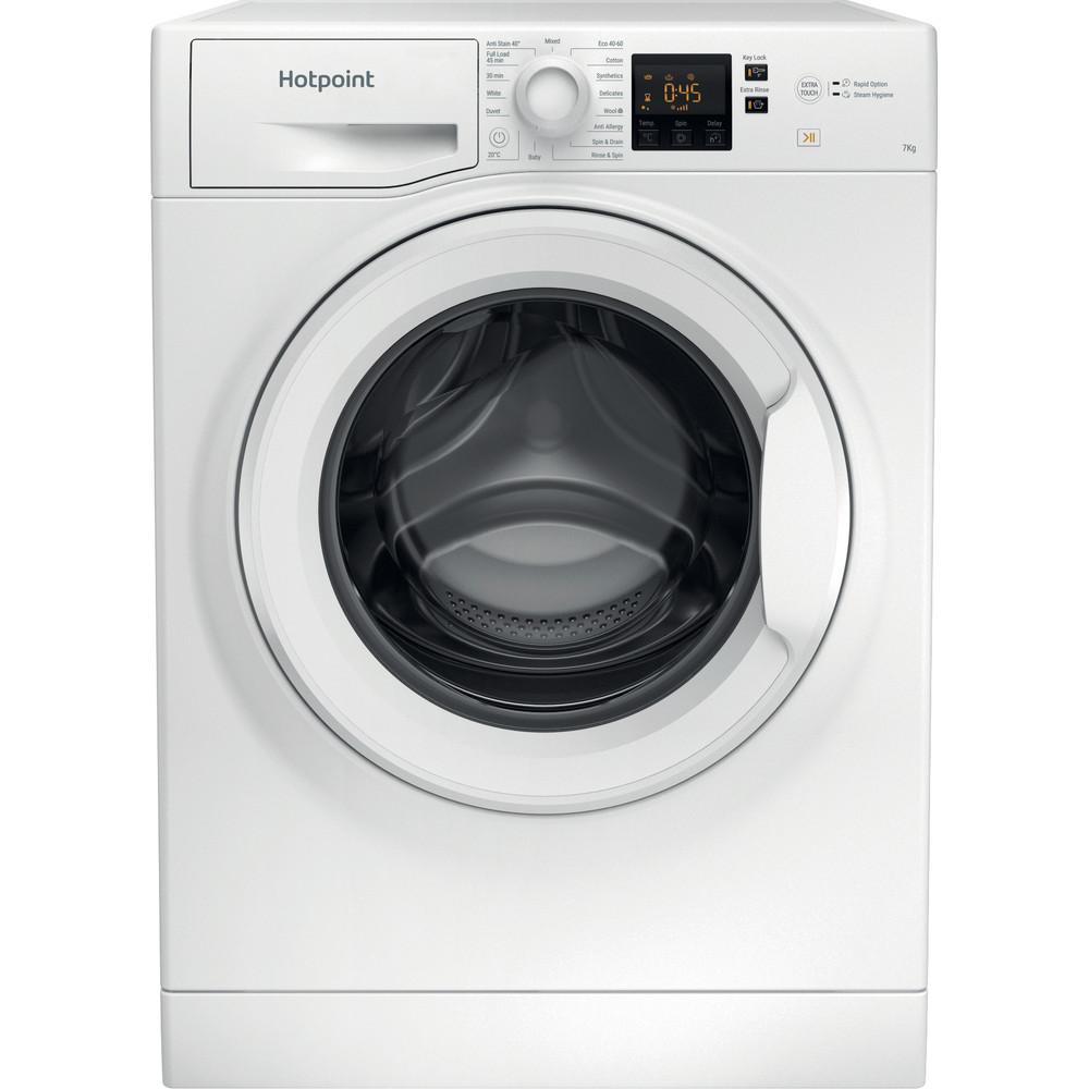 Hotpoint Washing machine Free-standing NSWR 742U WK UK N White Front loader E Frontal