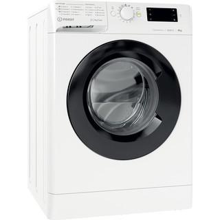 Indsit Maşină de spălat rufe Independent MTWE 81283 WK EE Alb Încărcare frontală D Perspective