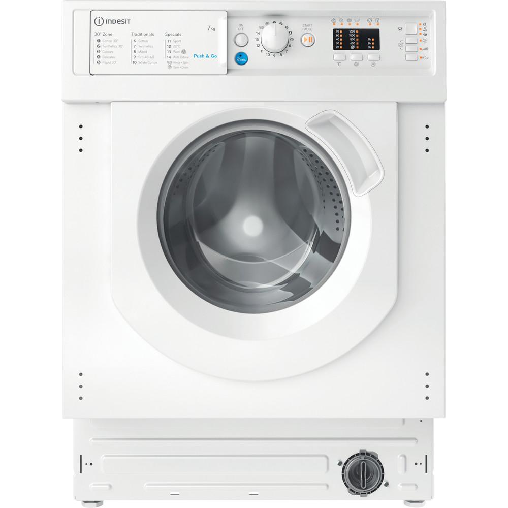 Indesit Washing machine Built-in BI WMIL 71252 UK N White Front loader E Frontal