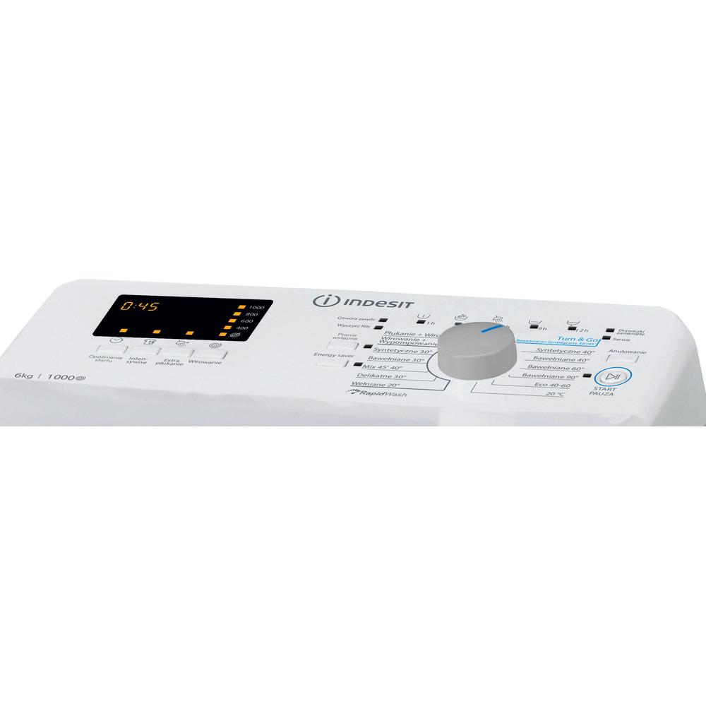 Indesit Pralka Wolnostojące BTW S60300 PL/N Biel Ładowana od góry D Control panel