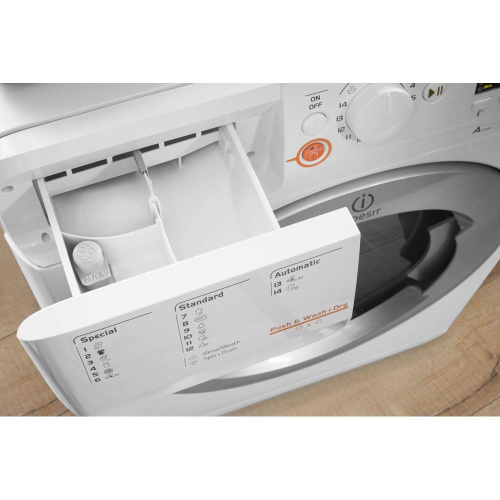 Indesit Pračka se sušičkou Volně stojící XWDA 751480X WSSS EU Bílá Front loader Drawer