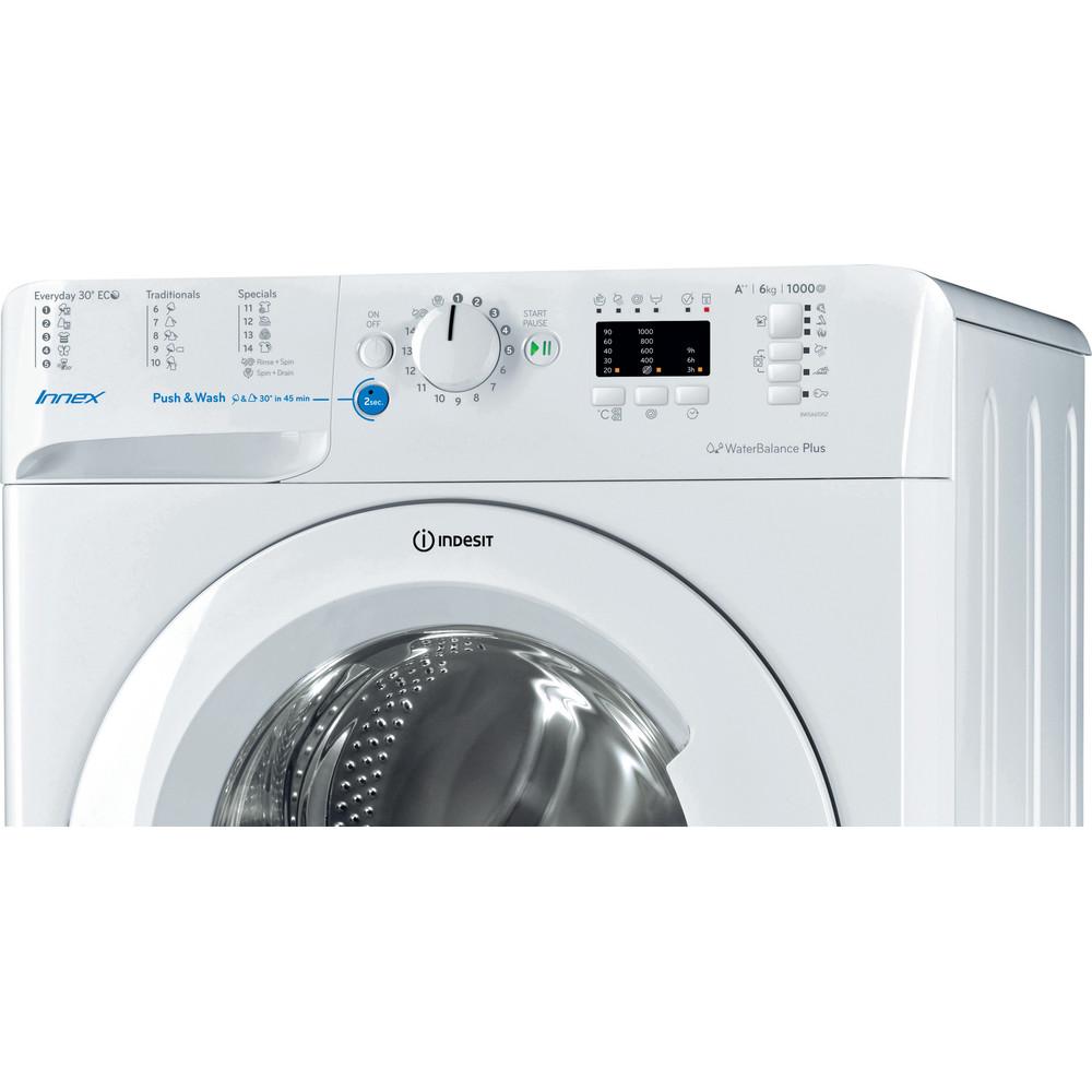 Indesit Pračka Volně stojící BWSA 61052 W EU Bílá Front loader A++ Control panel